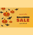 halloween sale - holiday promotion banner template vector image vector image