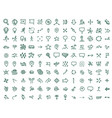 hand draw map icons set travel geography and vector image vector image