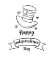 happy independence day style hand draw vector image vector image