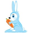 Hare with carrot vector image vector image