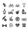 health icon set vector image vector image