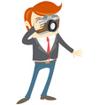 Hipster funny man with camera Flat style vector image