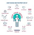 human heart disease vector image vector image
