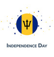 independence day of barbados patriotic banner vector image