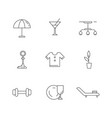 lifestyle linear icons set vector image