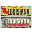 louisiana signs set with state map vector image vector image