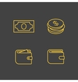 Money icon set vector image vector image