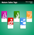 nature sales tags vector image vector image