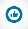 ok bold blue border circle icon vector image vector image