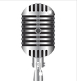 Old style professional silver microphone vector image vector image