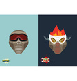 paintball helmet and mask scary skull with smoke vector image vector image