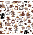 pattern of coffee cups and beans vector image