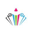 pencil colored icon vector image vector image