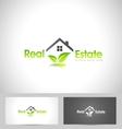 Real Estate Logo Leaf vector image vector image