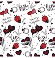 Romantic seamless pattern Valentine day vector image vector image