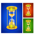 sandglass set vector image