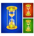 sandglass set vector image vector image