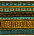 Seamless ethnic colorful geometric pattern vector image