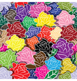 Seamless flower background with colorful rose vector image vector image
