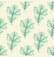 seamless pattern with green oak leaves vector image vector image