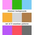 set abstract seamless patterns rhombus vector image vector image