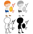 set boy character vector image