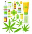 set cannabis medicine vector image vector image