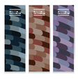 Set Of Three Abstract Colorful Vertical Banners vector image vector image