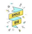 smile big vintage ribbon banner vector image