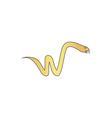 Snake computer symbol vector image vector image