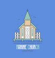 stilted marine church logo vector image