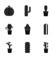 succulent icon set simple style vector image vector image
