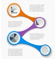 Teamwork social infographic diagram presentation vector image