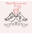 Template greeting card or invitation for vector image vector image