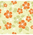 tropical seamless floral background vector image vector image