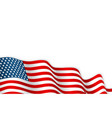 usa flag waving on wind 4th july vector image