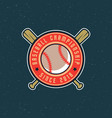 vintage baseball logo retro styled sport emblem vector image vector image