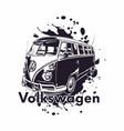 volkswagen combi classic car vector image