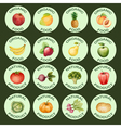 Watercolor set of icons vector image vector image