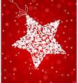 white star on a red background a vector image vector image