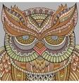 Decorative ornamental Owl background vector image