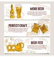 Set of vintage Beer Horizontal banners vector image