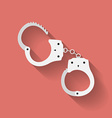 icon of handcuffs Flat style vector image