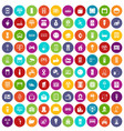100 smart house icons set color vector image vector image