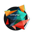 3d triangle abstract background polygonal vector image vector image