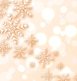 Abstract Christmas light background with snowflake vector image vector image