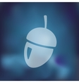 acorn icon on blurred background vector image