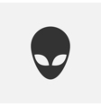 Alien head icon vector image vector image