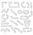 arrows hand drawn doodle vector image vector image