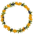 Autumn wreath with maple leaves vector image vector image